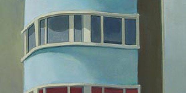 La Casa Azul. Óleo/tela. 61×33 cm