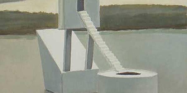 La casa de los faisanes. 2003. Óleo sobre madera. 23 x 21 cm