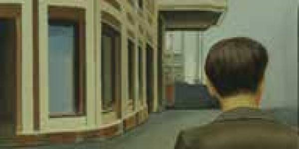 El hombre del Capitol, 2010, óleo/lienzo, 84×41 cm.