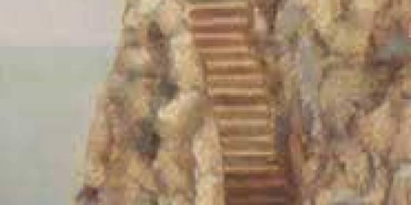 Dove Abita Giorgio. 2003. Óleo sobre madera. 40 x 15 cm