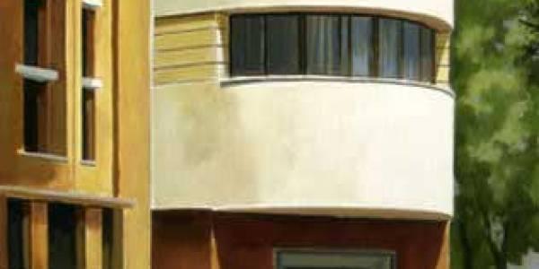 Edificio Parque Sur. 2005. Óleo sobre tabla. 62 x 45 cm