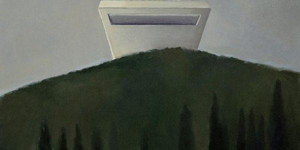 Monte Ocnos. Óleo/madera. 27 x 32 cm