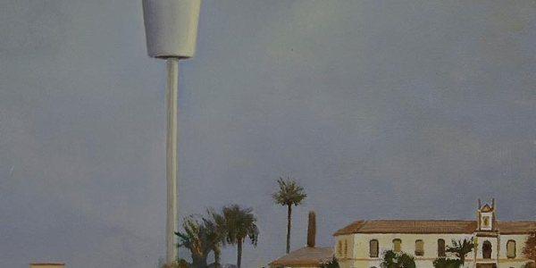Observatorio. Óleo/madera. 20 x 27 cm