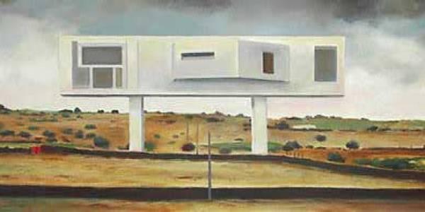 Casa Konstantin. 2003. Óleo sobre madera. 22 x 52 cm