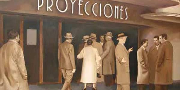 El cine Proyecciones, 2008, óleo/lienzo, 130×200 cm.
