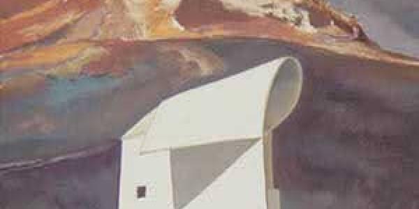 Casa Oramas. 2003. Óleo sobre madera. 40 x 24 cm