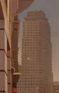 La torre, 2010, óleo/lienzo, 55x35 cm.
