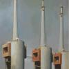 Chimeneas Damian Flores 2015 óleo sobre madera 30 x 20 cm