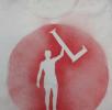 Camiseta Hombre con la Letra L Roja