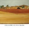 Casa la liebre Damian Flores 2014 oleo sobre tela 19 x 24 cms