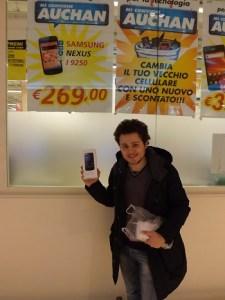 31 Gennaio 2013, ho acquistato il Galaxy Nexus  presso l'Auchan di Porte di Roma