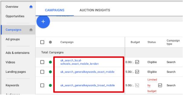 autotagowanie linków Google AdWords