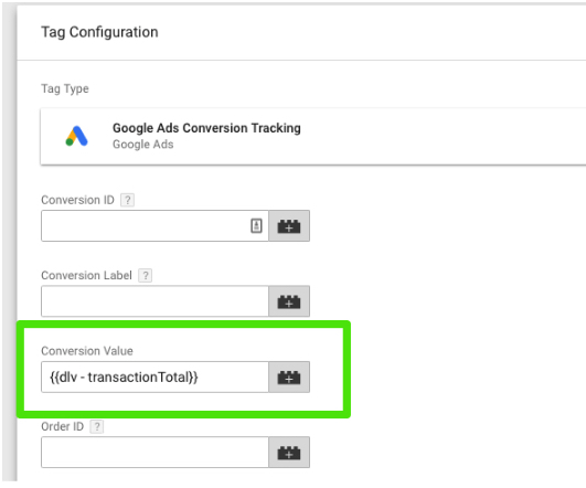 google ads sledzenie konwersji w gtm