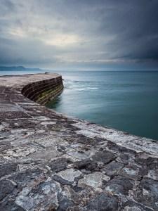 Landscape photography of The Cobb Lyme Regis Dorset.
