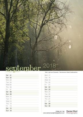 Damian Ward Photography Calendar 2018 September