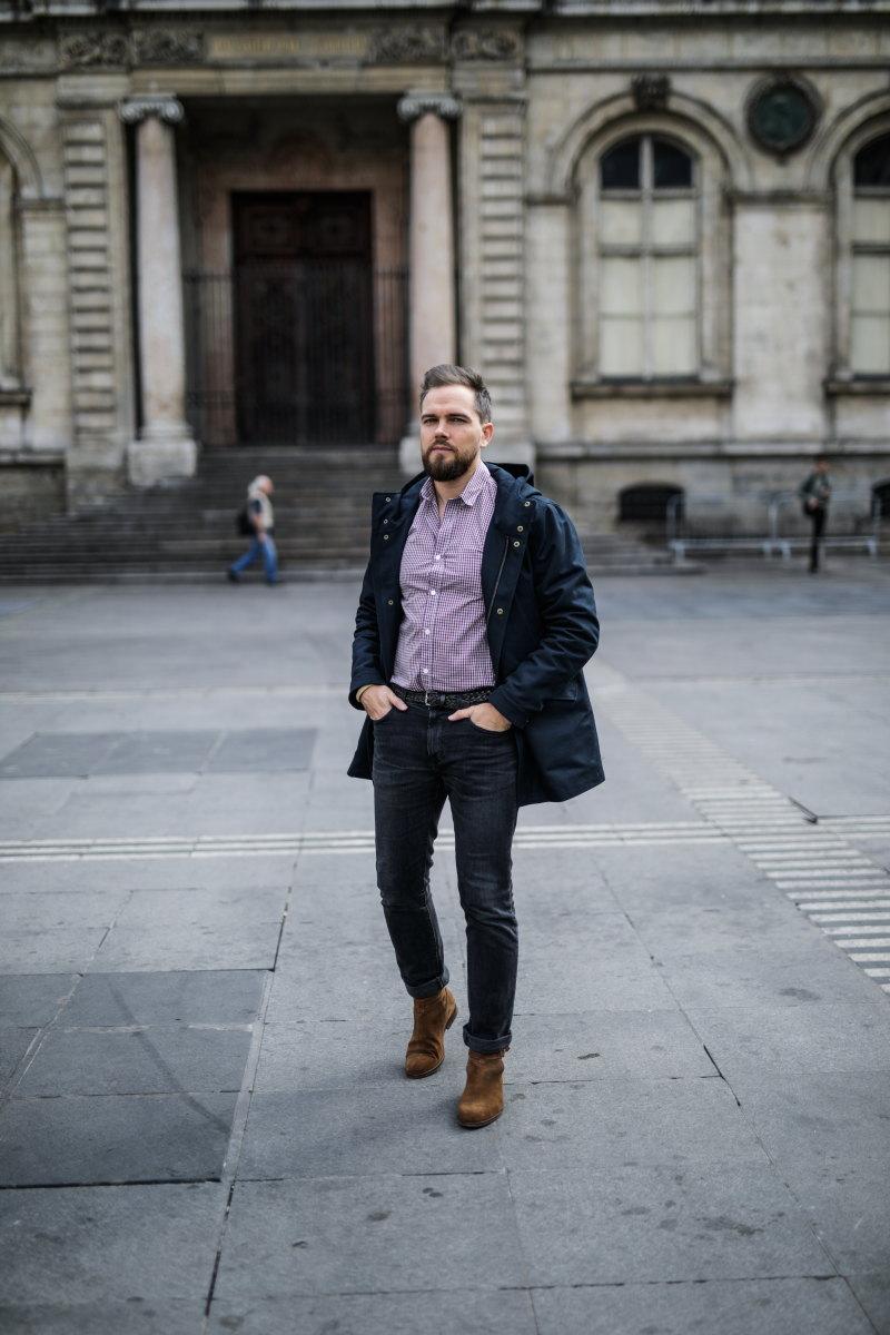 chemise à carreaux DamienLB jean edwin parka octobre editions