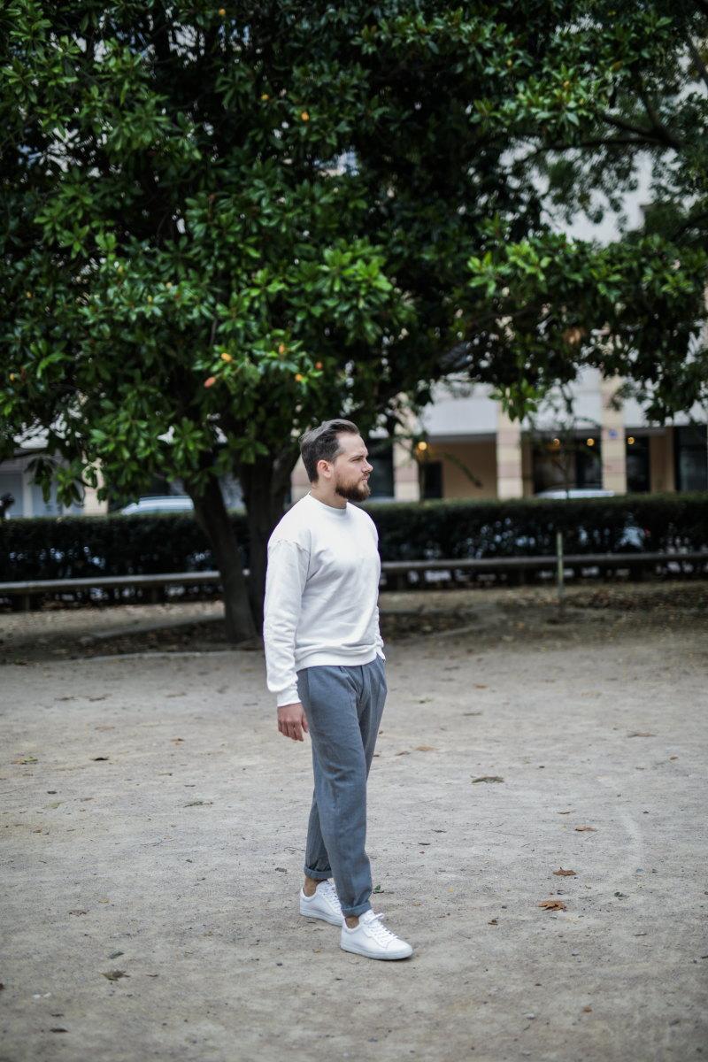 idée look minimaliste sweat ample DamienLB col montant