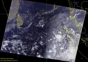 NOAA & Meteor Satellite Images of Sri Lanka – 02.17.2019