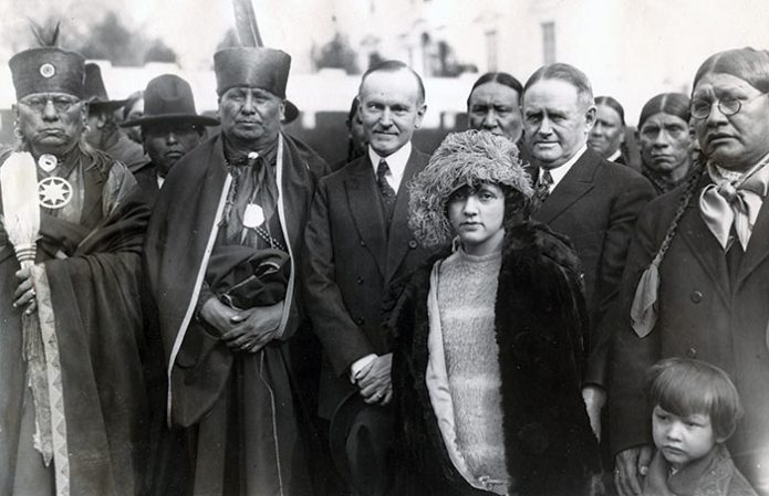 Osage Delegation meets with Pres. Calvin Coolidge