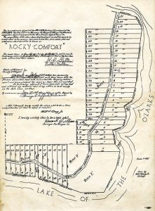 Surveyor's Plat of Rocky Comfort at Lake of the Ozarks, 1937