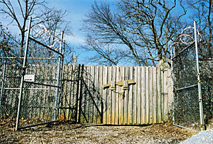 The main entrance to the Body Farm