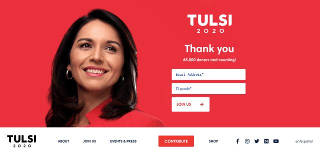 Homepage for tulsi2020.com