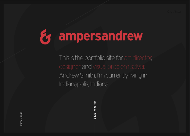 Home page for ampersandrew.com