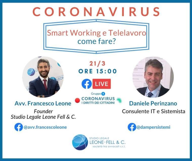 francesco leone facebook smart working e telelavoro