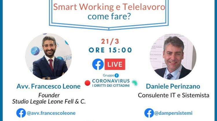 francesco leone facebook smart working e telelavoro