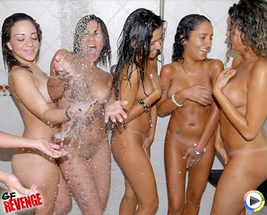 naked group shower locker room