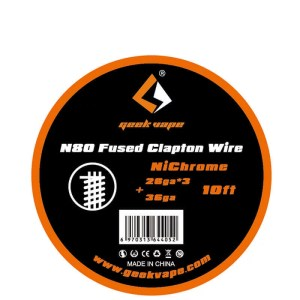 10ft N80 Fused Clapton Wire (26GAx3+36GA)