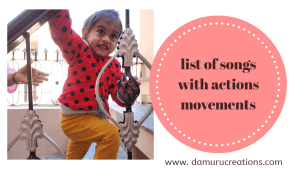 Songs with actions and movements