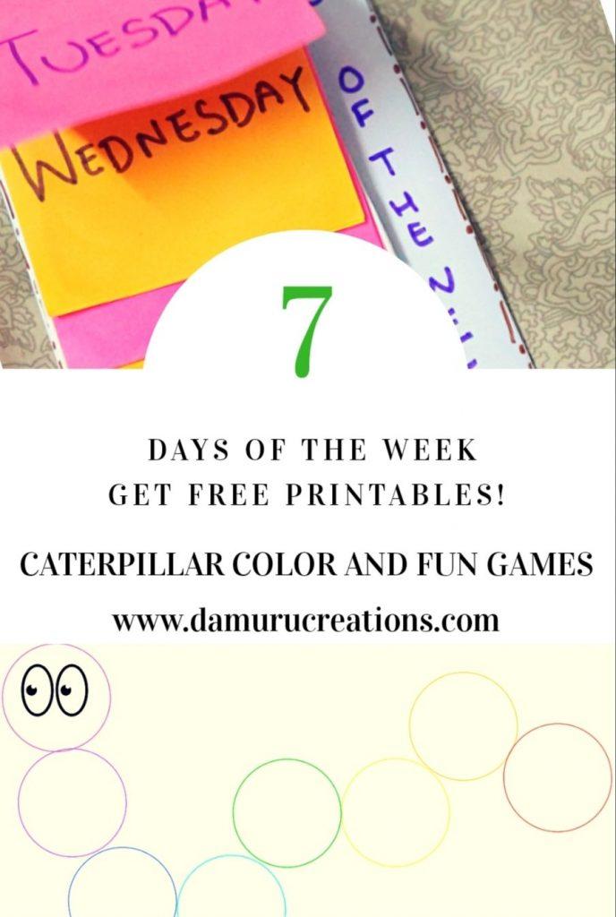 Caterpillar color and fun games