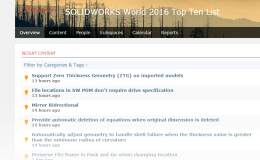 SolidWorks World 2016 Top Ten List: Now Open For Idea Submission