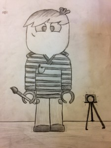 Lego self-portrait by one of my students.