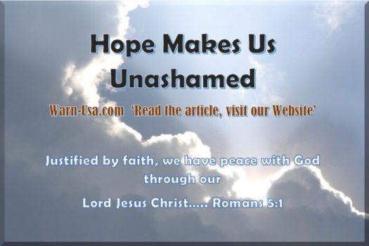 Christian Hope makes us Unashamed