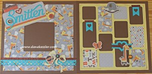 Two Page Baby Scrapbooking Layout using CTMH Babycakes WOTG and Cricut Artbooking and Art Philosophy #ctmh #scrapbooking