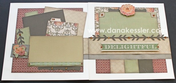 Two Page Autumn Fall Scrapbook Layout using CTMH Huntington WOTG and Cricut Artbooking #ctmh #scrapbooking