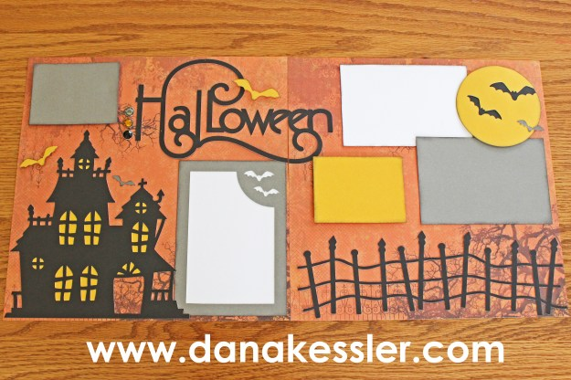 Two Page Artbooking Halloween Scrapbook layout #ctmh #scrapbooking #scraptabulous