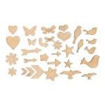 Z1844 Trinkets Wooden Shape $6.95