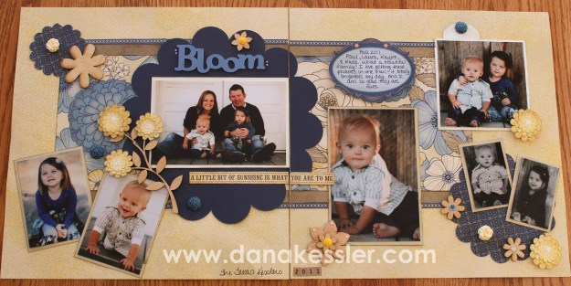 Two Page Family scrapbooking layout cricut Art Philosophy Pemberly bloom #ctmh #scraptabulousdesigns #cricut