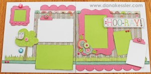 Two Page Scrapbook Layout Lollydoodle Girl Friends BFF Cricut CTMH #scraptabulousdesigns #cricut #ctmh