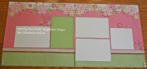 Two Page Scrapbook Layout Lucy Floral Girl Easter Spring #ctmh #cricutexplore #scraptabulousdesigns