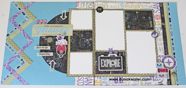 Two Page Wanderful Travel Vacation Scrapbook Layouts CTMH Cricut #ctmh #scraptabulousdesigns #cricut