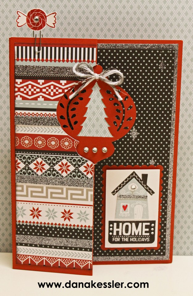 October SOTM Home for the Holidays Christmas Card Snowhaven #artfullysent #cricutexplore #scraptabulousdesigns #ctmh