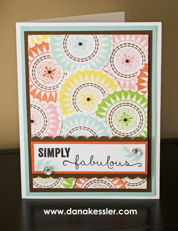 February Stamp of the Month A Happy Hello Card Fabulous Youre the Bomb #ctmh #scraptabulousdesigns