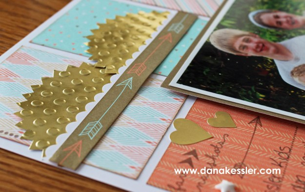 Gold dot embossing folder