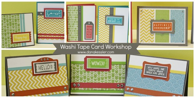 Washi Ta[e Cards Boardwalk Carnival No Stamping #ctmh #scraptabulousdesings #cardworkshop