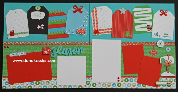 Two Page Christmas Holiday City Sidewalks Scrapbook Layout Page Kits #ctmhcitysidewalks #pagekits #scrapbooking #cricutexplore #scraptabulousdesigns