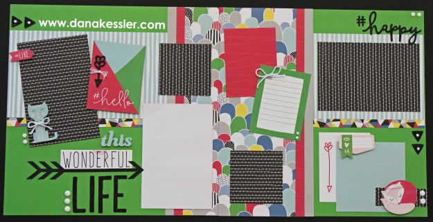 Two Page Scrapbook Layout Some Kinda Wonderful Best Friends Today Happy Teen Girls Life Spring Page Kit #scraptabulousdesigns #ctmhsomekindawonderful #pagekits #scrapbooking #cricutexplore